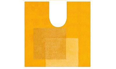 Spirella Teppich Crossover Yellow WC 55 x 55 cm, Gelb
