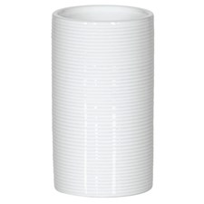 Tube Ribbed white Zahnbecher