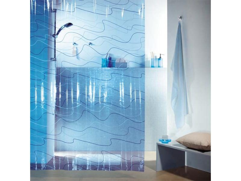 Spirella duschvorhang pool blue plastik 180 x 200 cm for Pool aus plastik