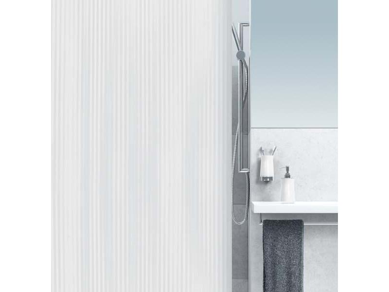 spirella duschvorhang twill white plastik 240 x 180 cm. Black Bedroom Furniture Sets. Home Design Ideas