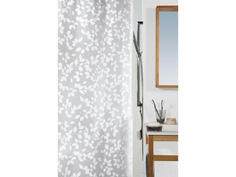 spirella duschvorhang blatt white plastik 180 x 200 cm. Black Bedroom Furniture Sets. Home Design Ideas