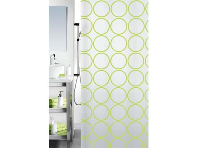 spirella duschvorhang ando kiwi plastik 180 x 200 cm. Black Bedroom Furniture Sets. Home Design Ideas