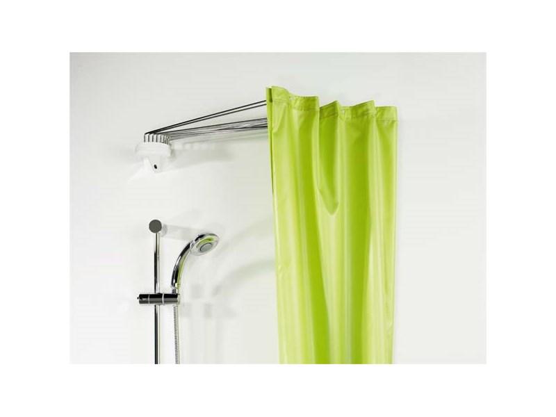 spirella duschvorhangstange ombrella white 12 arms 90 x 70 cm weiss silber ombrella. Black Bedroom Furniture Sets. Home Design Ideas
