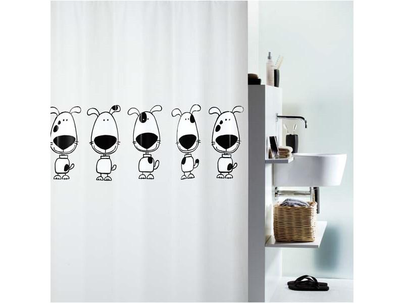 zubeh r f r spirella duschvorhang beagle black plastik. Black Bedroom Furniture Sets. Home Design Ideas