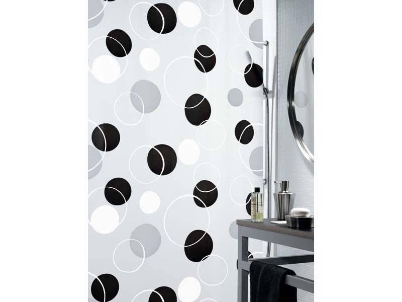 spirella duschvorhang bubble black plastik 180 x 200 cm. Black Bedroom Furniture Sets. Home Design Ideas