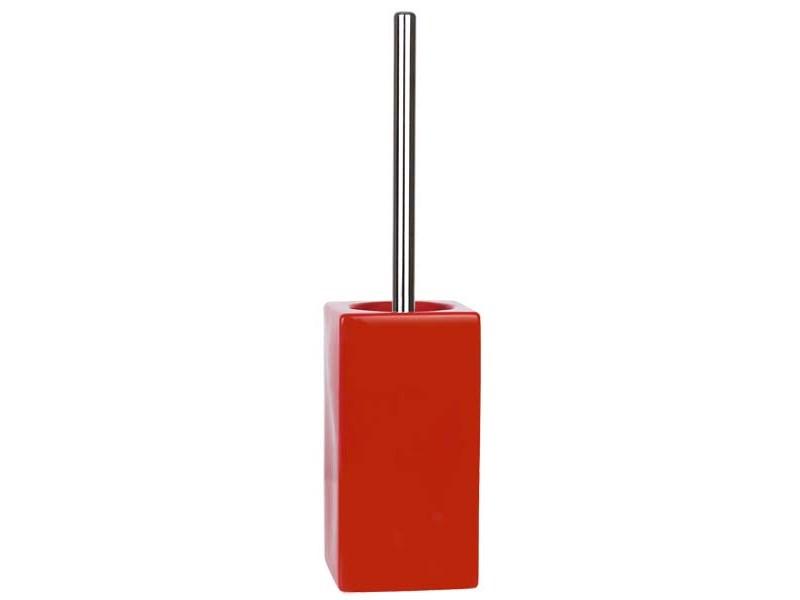 zubeh r f r spirella wc b rstengarnitur quadro red rot quadro badezimmer. Black Bedroom Furniture Sets. Home Design Ideas