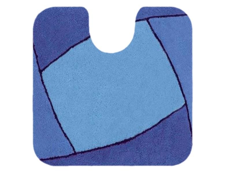 Spirella Teppich Focus Blue WC 55 x 55 cm, Blau  Spirella