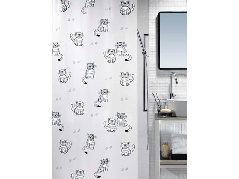 spirella duschvorhang gary grey plastik 180 x 200 cm. Black Bedroom Furniture Sets. Home Design Ideas
