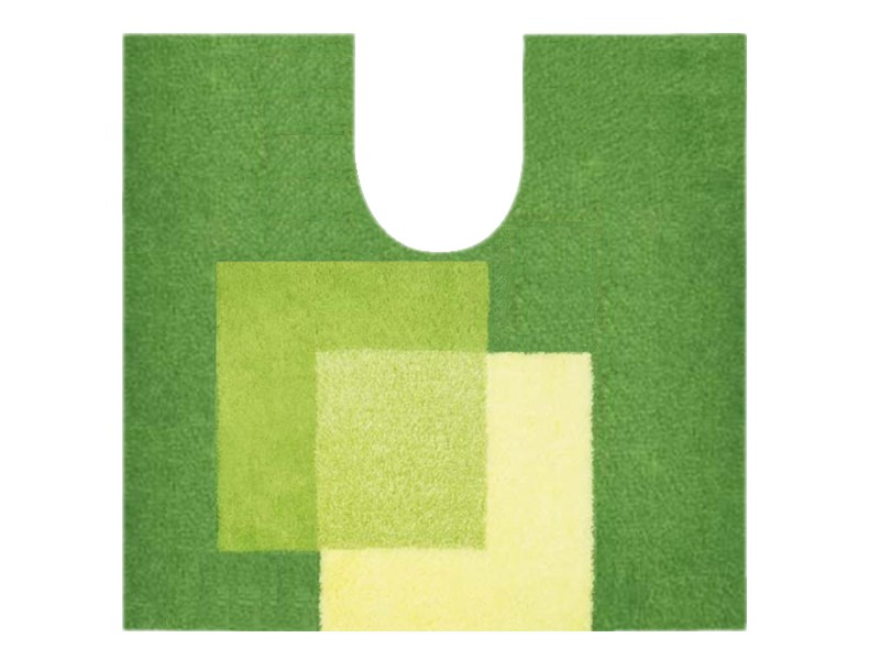 Spirella Teppich Crossover Green WC 55 x 55 cm, Grü