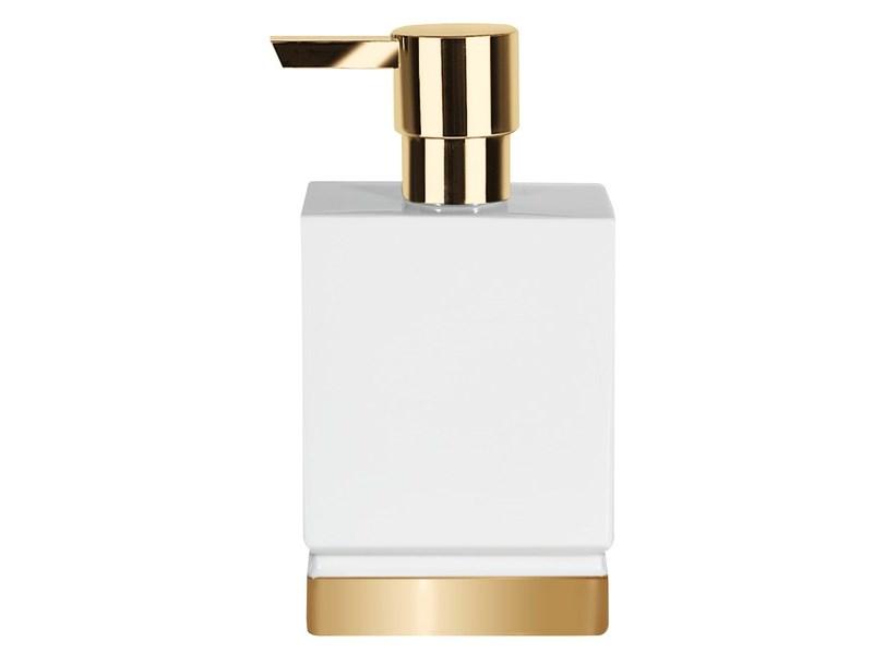 spirella seifendispenser roma white gold weiss gold seifeausgabeform seife h he 170 mm. Black Bedroom Furniture Sets. Home Design Ideas