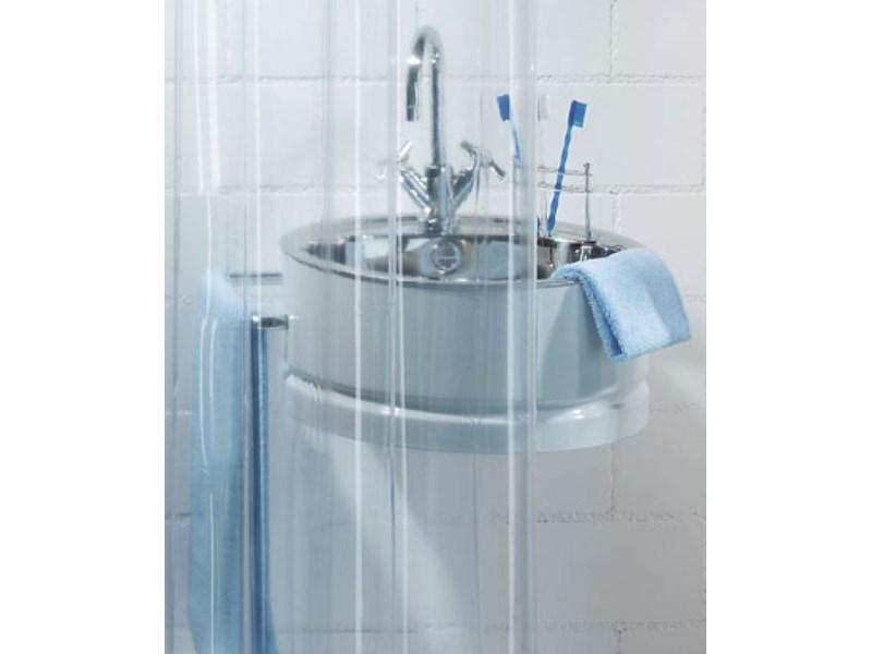 spirella duschvorhang transparent clear plastik 180 x 200 cm transparent transparent. Black Bedroom Furniture Sets. Home Design Ideas