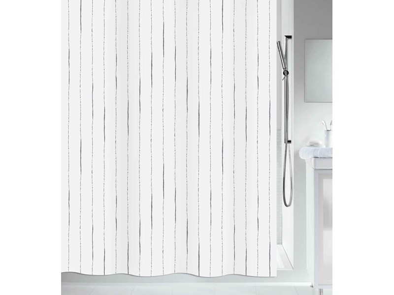 zubeh r f r spirella duschvorhang alina grey textil 180 x. Black Bedroom Furniture Sets. Home Design Ideas